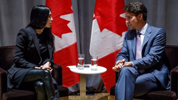Shahrzad Rafati with Canadian Prime Minister Justin Trudeau