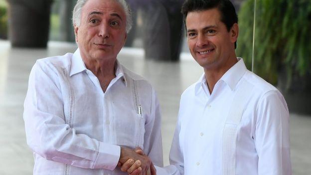 Michel Temer y Enrique Peña Nieto.