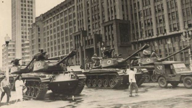 Tanques nas ruas no Brasil