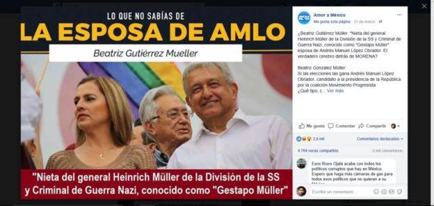 Una imagen viral con información falsa sobre López Obrador