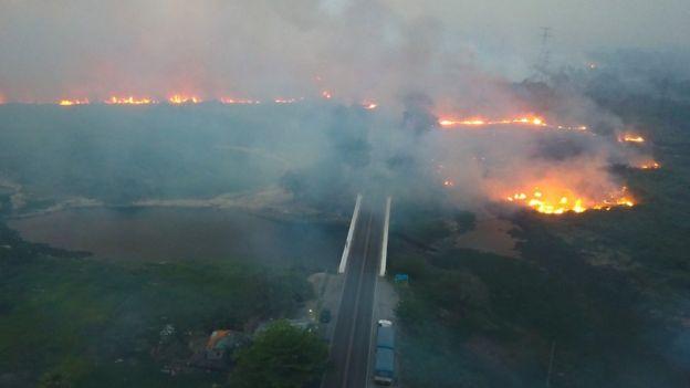 Os dados do Instituto Nacional de Pesquisas Espaciais (Inpe) mostram que, em números absolutos, os incêndios em todo o bioma Pantanal saltaram de 1.147 entre agosto e outubro de 2018 para 6.958