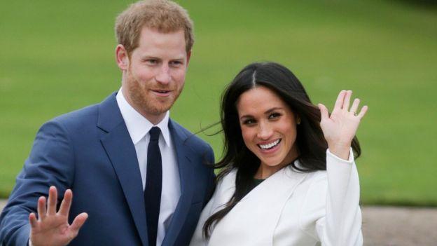 Harry y Meghan el día que anunciaron su compromiso