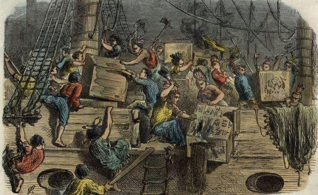16 دسمبر 1773 کا ایک سکیچ