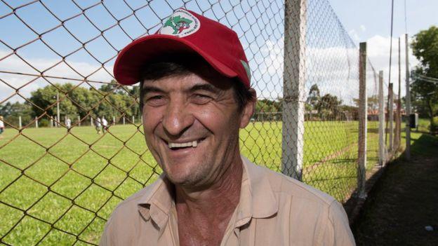 Isaías Vedovatto, de 54 anos, na Fazenda Annoni
