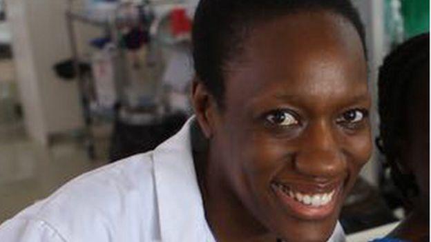 Close up of Neema Kaseje at hospital