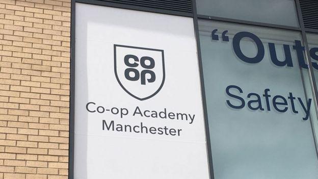 Co-op logo on school