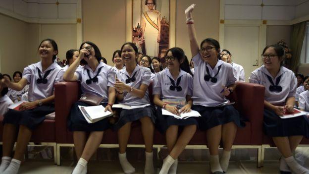 นักเรียนไทยเรียนรู้เรื่องค่านิยม 12 ประการ