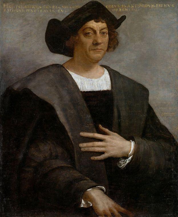 Retrato de Cristóbal Colón de 1519 expuesto en el Museo Metropolitano de Arte de Nueva York.