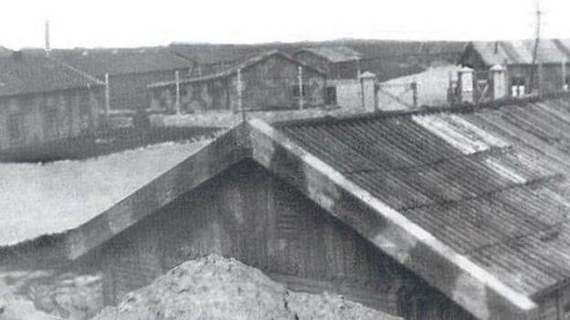 Фото бараков в лагере на Олдерни