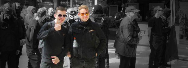 Alex Davies (esquerda) e Ben Raymond