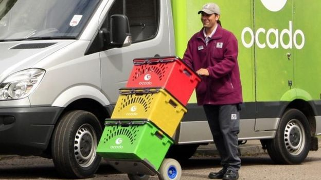 Ocado delivery person
