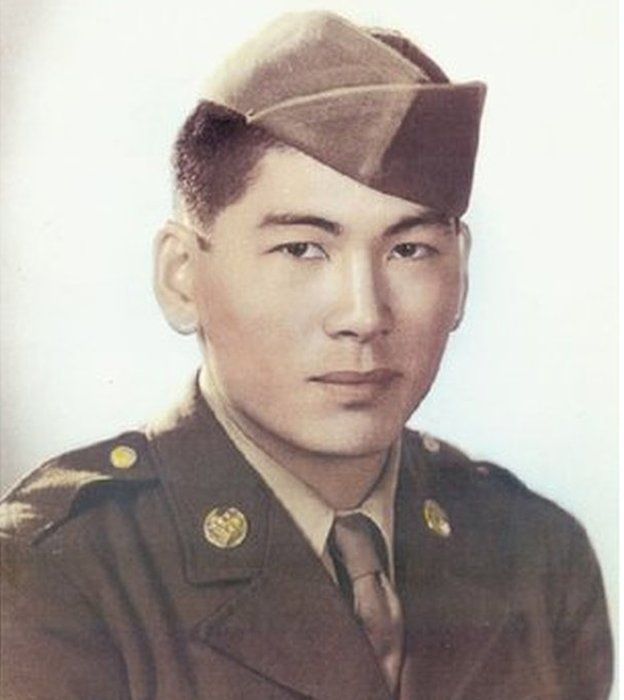 Lawson Ichiro Sakai fought for the US army in Europe and received a Bronze Star, a Purple Heart and a Combat Infantryman Badge