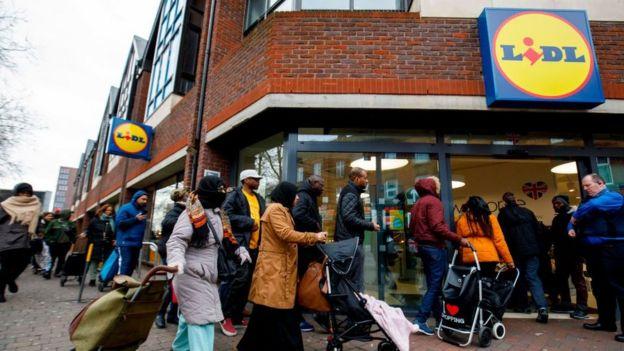 Supermercado en Reino Unido.