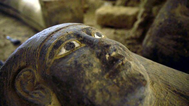 Один из наиболее хорошо сохранившихся саркофагов в Саккаре