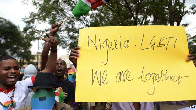 Nigerian activists march