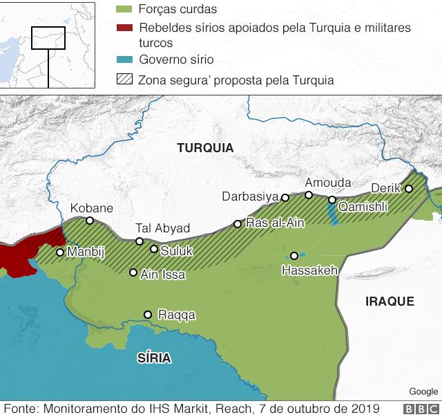 território sírio atual