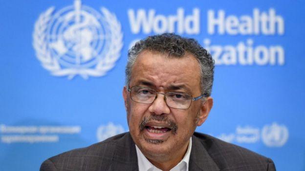 El doctor Tedros, director de la OMS