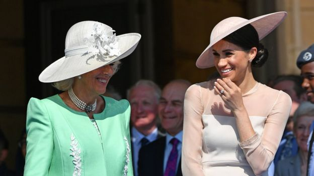 The Duchess of Cornwall with Meghan