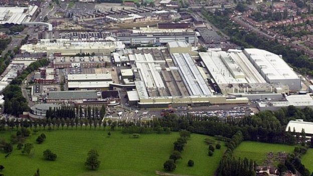Longbridge plant from the air