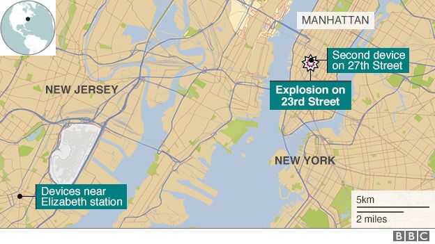New Jersey Explosion Bomb Squad In Elizabeth Detonates Device - Map of new york and new jersey