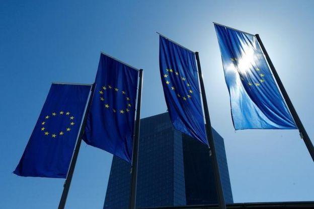 Avrupa Merkez Bankası dışındaki AB bayrakları