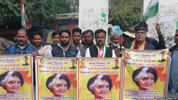 कांग्रेसी कार्यकर्ता प्रियंका गांधी की तुलना इंदिरा गांधी से कर रहे हैं.