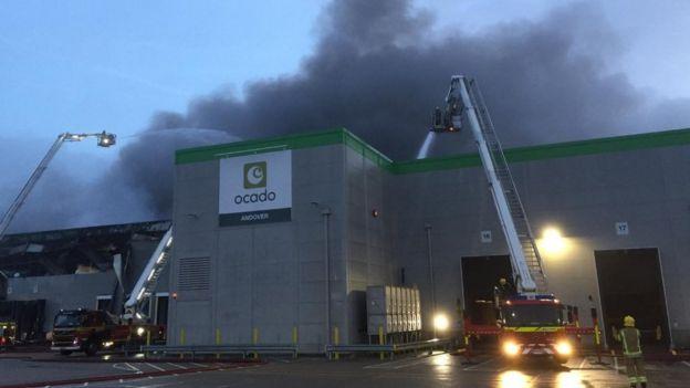 Ocado's high-tech depot on the Walworth Industrial Estate, Andover