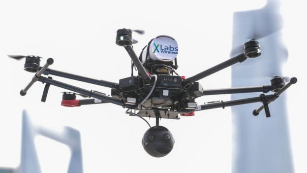 Drone with 360 degree camera