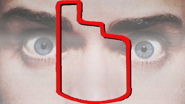 Esa figura es lo que Kühne dice haber visto en los ojos del decapitado.