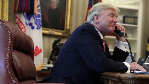Donald Trump en la Oficina Oval
