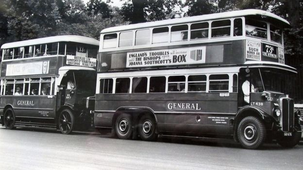 Adverts on buses