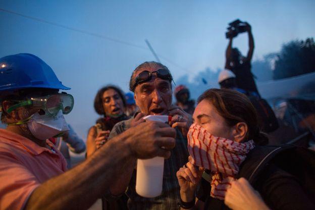 Gezi Parkı'ndaki bir gösteri