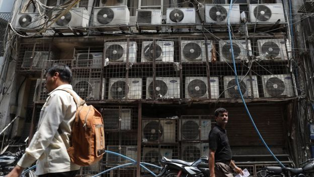 Air conditioning systems in a store in India
