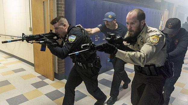 مانور مقابله با تیرانداز در مدرسه