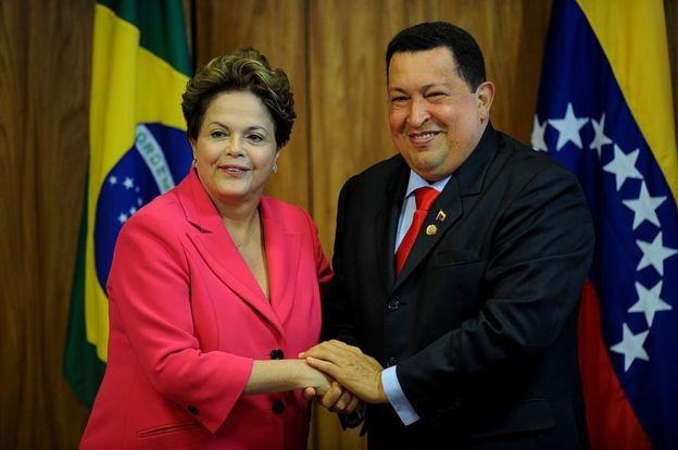 Dilma Rousseff y Hugo Chavez