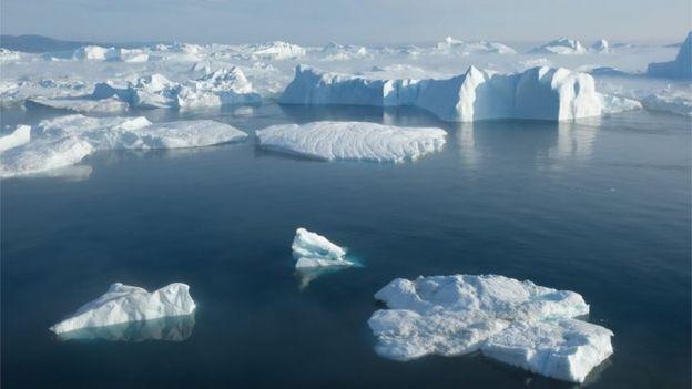 北极冰雪融化