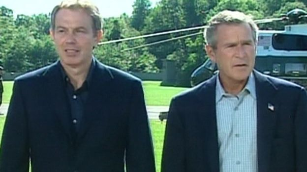 Tony Blair and George W. Bush in 2003