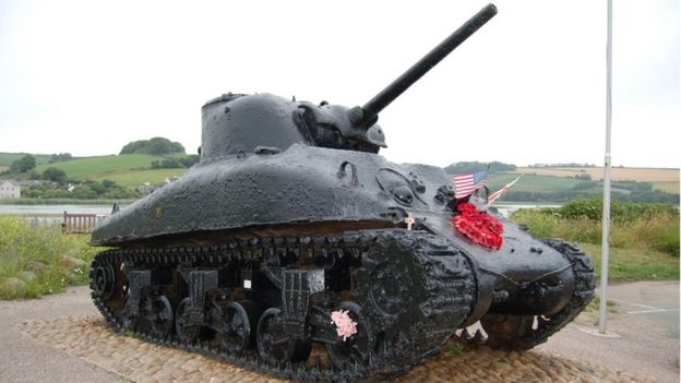 Slapton Sands Sherman tank