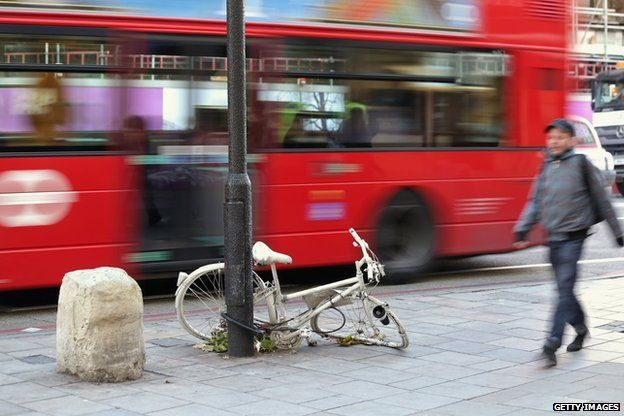 Ghost bike in London