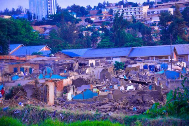 Imiryango ibarirwa mu bihumbi yarasenyewe mu mujyi wa Kigali