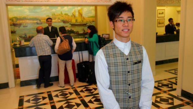 Singapore hotel worker