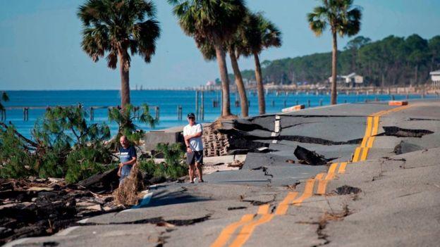 Разрушения во Флориде после урагана Майкл в октябре 2018 года