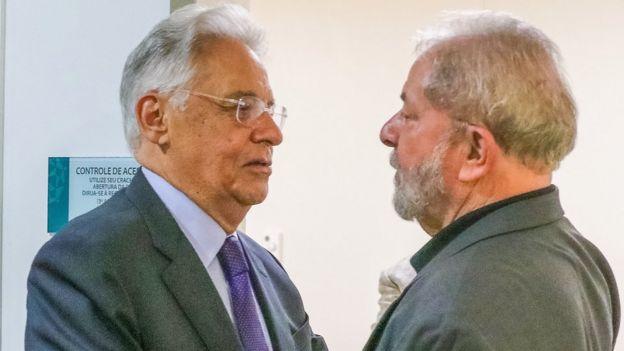 Lula recebe a visita de Fernando Henrique Cardoso, no Hospital Sírio Libanês, à época de internação de dona Marisa Letícia, em fevereiro