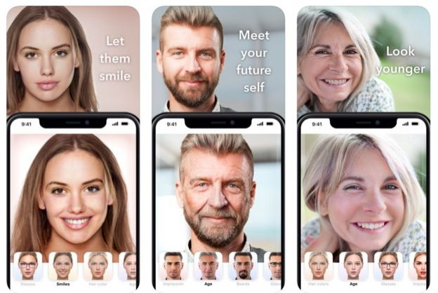 Ejemplos de las características de FaceApp