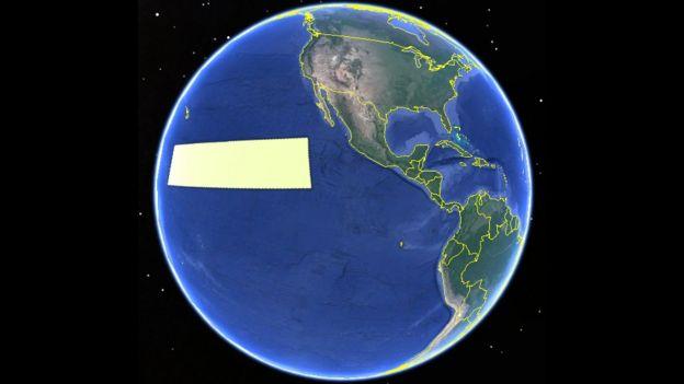 Mapa com a Clarion-Clipperton.