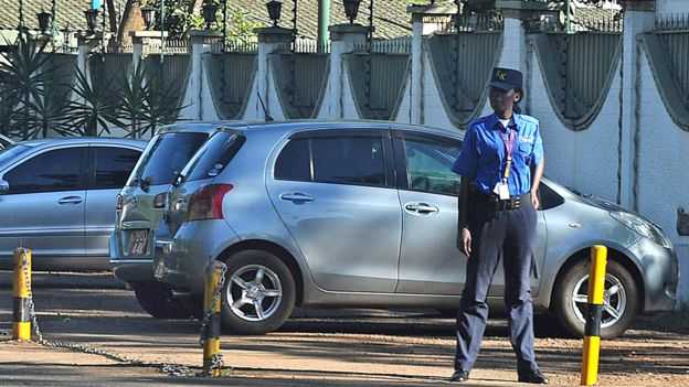 A Kenya private security guard in Nairobi - archive shot