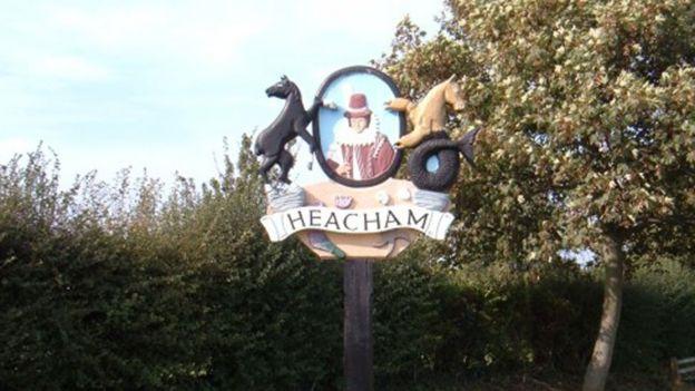 Heacham village sign