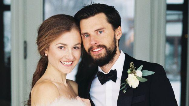 Justin y Kate en su boda.