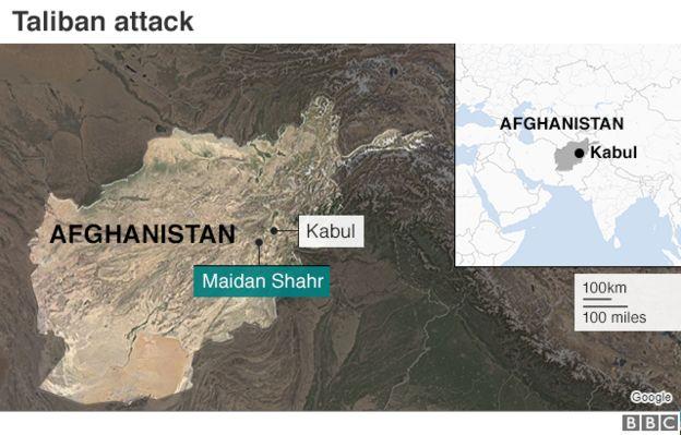 Taliban Militants Kill Dozens At Afghan Intelligence Base Bbc News - Afghanistan-us-bases-map