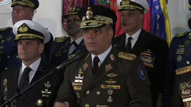 ولادیمیر پادرینو، وزیردفاع ونزوئلا گفته ارتش حامی نیکلاس مادورو است